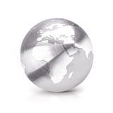 A ilustração inoxidável Europa e África do globo 3D traça Imagem de Stock Royalty Free