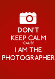 Não mantenha a calma Foto de Stock