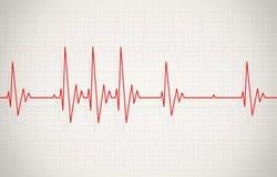 Ilustração irregular da pulsação do coração ilustração stock