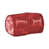 Ilustração isolada bife da carne Fotografia de Stock