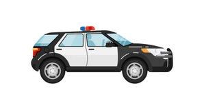 Ilustração isolada carro do vetor do suv da polícia Foto de Stock
