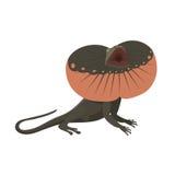 Ilustração isolada réptil do vetor do lagarto do geco ilustração royalty free