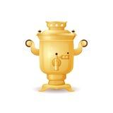 Ilustração isolada samovar do vetor do chá do vintage Fotografia de Stock Royalty Free