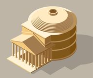Ilustração isométrica antiga do vetor Foto de Stock Royalty Free