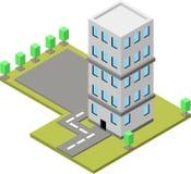 Ilustração isométrica de construção, ilustração do vetor imagens de stock royalty free