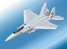 Ilustração isométrica detalhada do vetor de um F-15 Eagle Jet Fighter Airborne Imagem de Stock Royalty Free