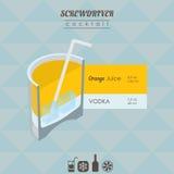 Ilustração isométrica do cocktail da chave de fenda Imagem de Stock Royalty Free