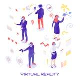 Ilustração isométrica do mundo virtual ilustração stock