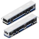 Ilustração isométrica do ônibus da cidade do vetor Ícone do transporte ilustração royalty free