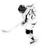 Ilustração: jogador de hóquei Fotografia de Stock