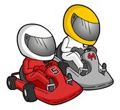 Ilustração karting dos desenhos animados ilustração royalty free