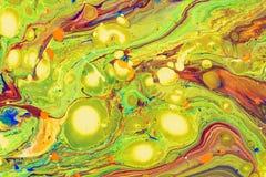 Ilustração líquida abstrata fluida da arte Pintura acrílica no canva ilustração do vetor