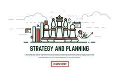 Ilustração linear da estratégia ilustração royalty free