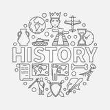 Ilustração linear da história ilustração stock