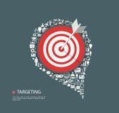 Ilustração lisa da escolha de objetivos com ícones Imagem de Stock Royalty Free