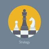 Ilustração lisa da estratégia empresarial ilustração stock