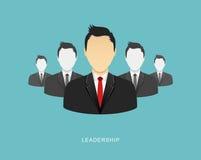 Ilustração lisa da liderança Fotografia de Stock