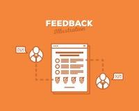 Ilustração lisa de um conceito do feedback Fotografia de Stock