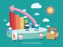 Ilustração lisa do conceito do negócio de caráter Imagem de Stock Royalty Free