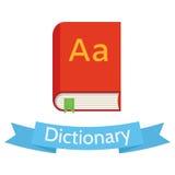 Ilustração lisa do dicionário do estilo do vetor Fotos de Stock Royalty Free