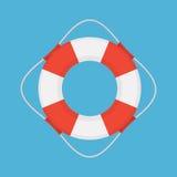 Ilustração lisa do estilo do vetor do boia salva-vidas Imagens de Stock