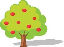 Ilustração lisa do projeto da árvore de Apple isolada no branco Foto de Stock Royalty Free