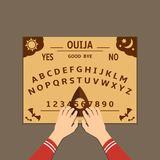 Ilustração lisa do projeto da placa de Ouija ilustração stock