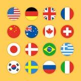 Ilustração lisa do projeto do ícone da bandeira Imagem de Stock