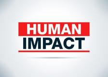 Ilustração lisa do projeto do fundo do sumário humano do impacto ilustração royalty free