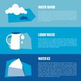 Ilustração lisa do vetor da água Imagens de Stock