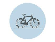 Ilustração lisa do vetor da bicicleta Foto de Stock Royalty Free