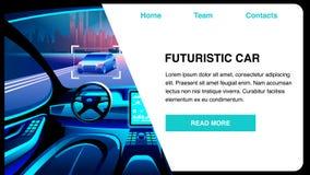 Ilustração lisa do vetor da inovação futurista do carro ilustração royalty free