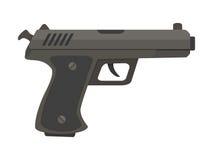 Ilustração lisa do vetor da pistola da arma da arma Imagens de Stock Royalty Free