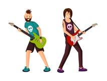 Ilustração lisa do vetor das estrelas do rock ilustração stock