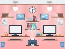 Ilustração lisa do vetor do espaço de trabalho comum ilustração stock