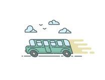 Ilustração lisa do vetor do ônibus Imagens de Stock Royalty Free