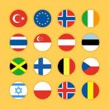 Ilustração lisa do vetor do projeto do ícone da bandeira Imagens de Stock Royalty Free
