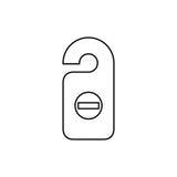 Ilustração lisa simples do vetor do estilo do ícone da etiqueta da sala Etiqueta da porta, d ilustração stock
