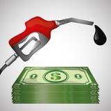 Ilustração lisa sobre conceitos do preço do petróleo, do petróleo e do gás Imagens de Stock