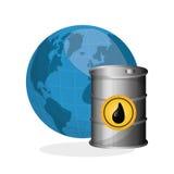 Ilustração lisa sobre conceitos do preço do petróleo, do petróleo e do gás Fotografia de Stock Royalty Free