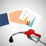 Ilustração lisa sobre conceitos do preço do petróleo, do petróleo e do gás Imagem de Stock Royalty Free