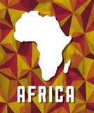 Ilustração lisa sobre o projeto de África Fotos de Stock
