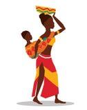 Ilustração lisa sobre o projeto de África Foto de Stock