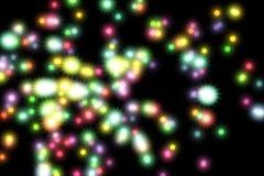 Ilustração luminosa de néon das luzes Teste padrão do projeto para o fundo imagem de stock