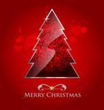 Ilustração lustrosa da árvore de Natal Imagem de Stock Royalty Free