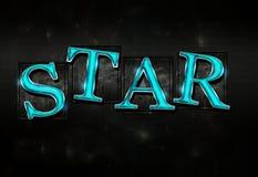 Ilustração lustrosa do texto da estrela Imagens de Stock