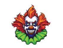 Ilustração má do Dia das Bruxas do palhaço Imagens de Stock Royalty Free