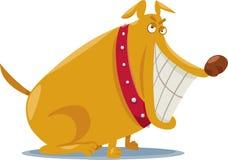 Ilustração má engraçada dos desenhos animados do cão Foto de Stock