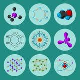 Ilustração médica do vetor da fórmula da microbiologia da biotecnologia da vida da evolução da estrutura molecular Fotos de Stock Royalty Free