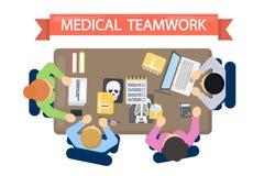 Ilustração médica dos trabalhos de equipa ilustração do vetor